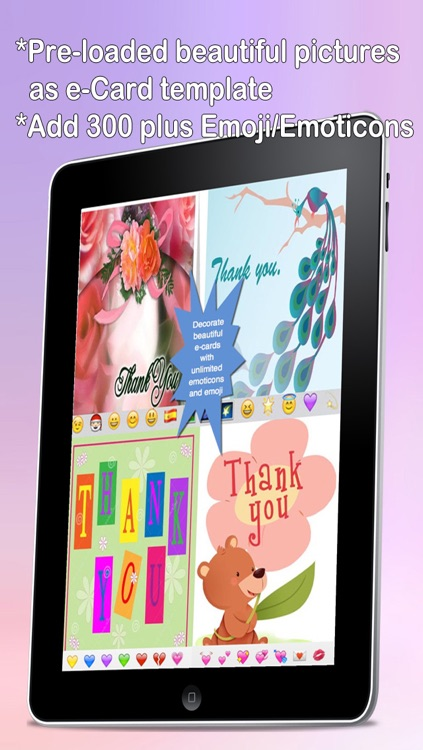 Thank You Cards Maker With Photo Editor.Customise and Send Thank You e-Cards