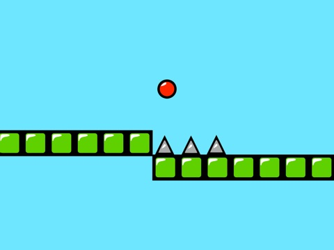 Red Bouncing Ball Spikes Free-ipad-0