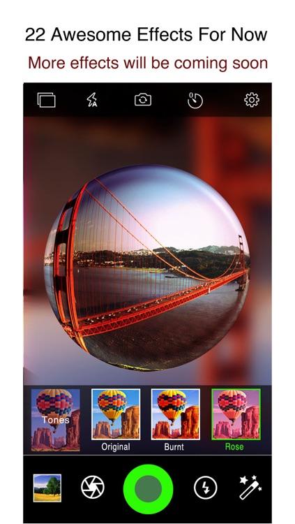 iPixelCamera Free - Powerful Camera with Fisheye Lens, Old Films and Color Flashlights screenshot-4