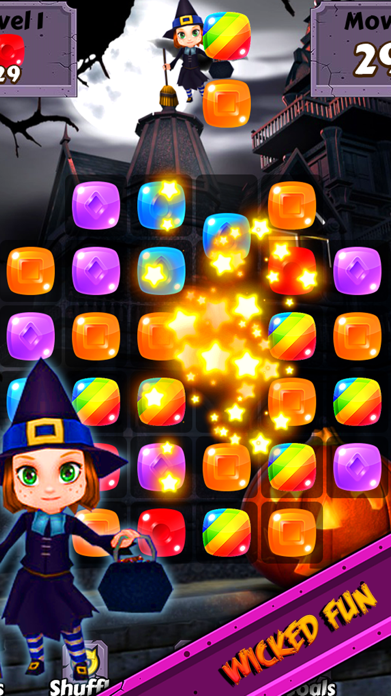 Halloween Candy World Adventure - Pop the gummy drop & match yummy treats to collect skull gems Screenshot