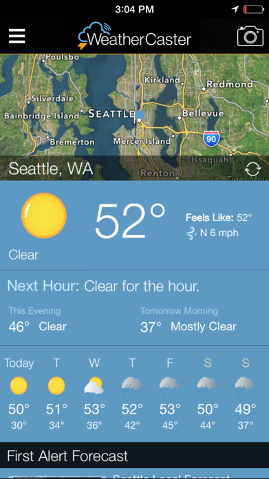 WeatherCaster - Weather radar, forecast, alerts, and hurricane tracker Screenshot