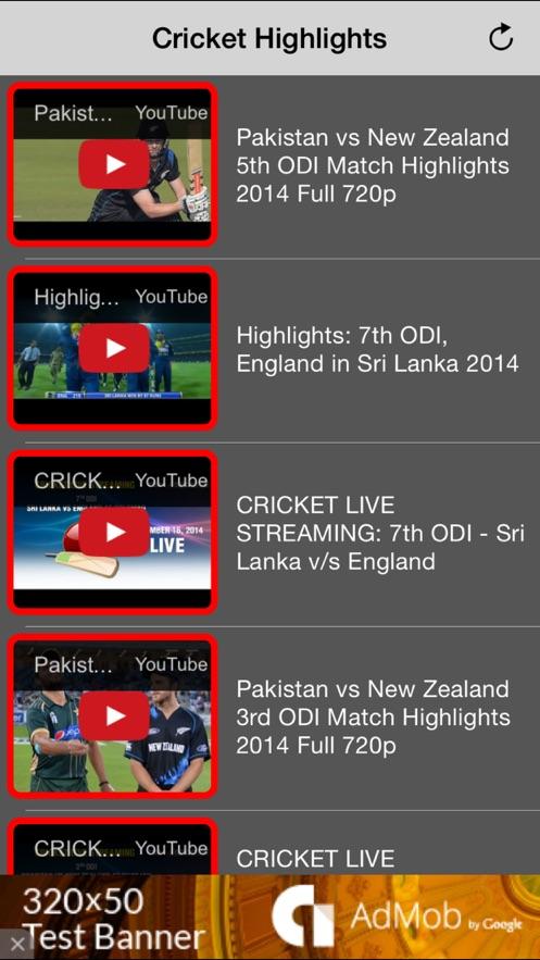 Cricket Highlights Videos - All Previous Match App 截图
