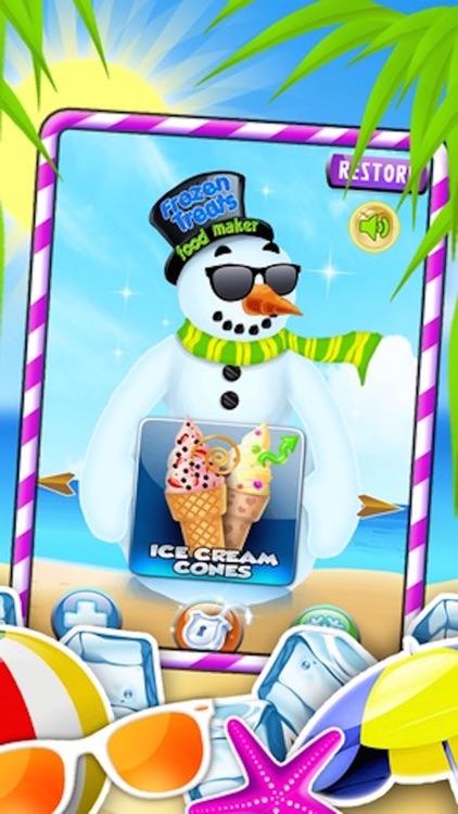 Frozen Treats Ice-Cream Cone Creator: Make Sugar Sundae! by Free Food Maker Games Factory screenshot-3