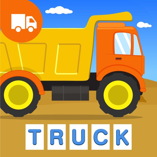 First Words Trucks and Things That Go - Educational Alphabet Shape Puzzle for Toddlers and Preschool Kids Learning ABCs