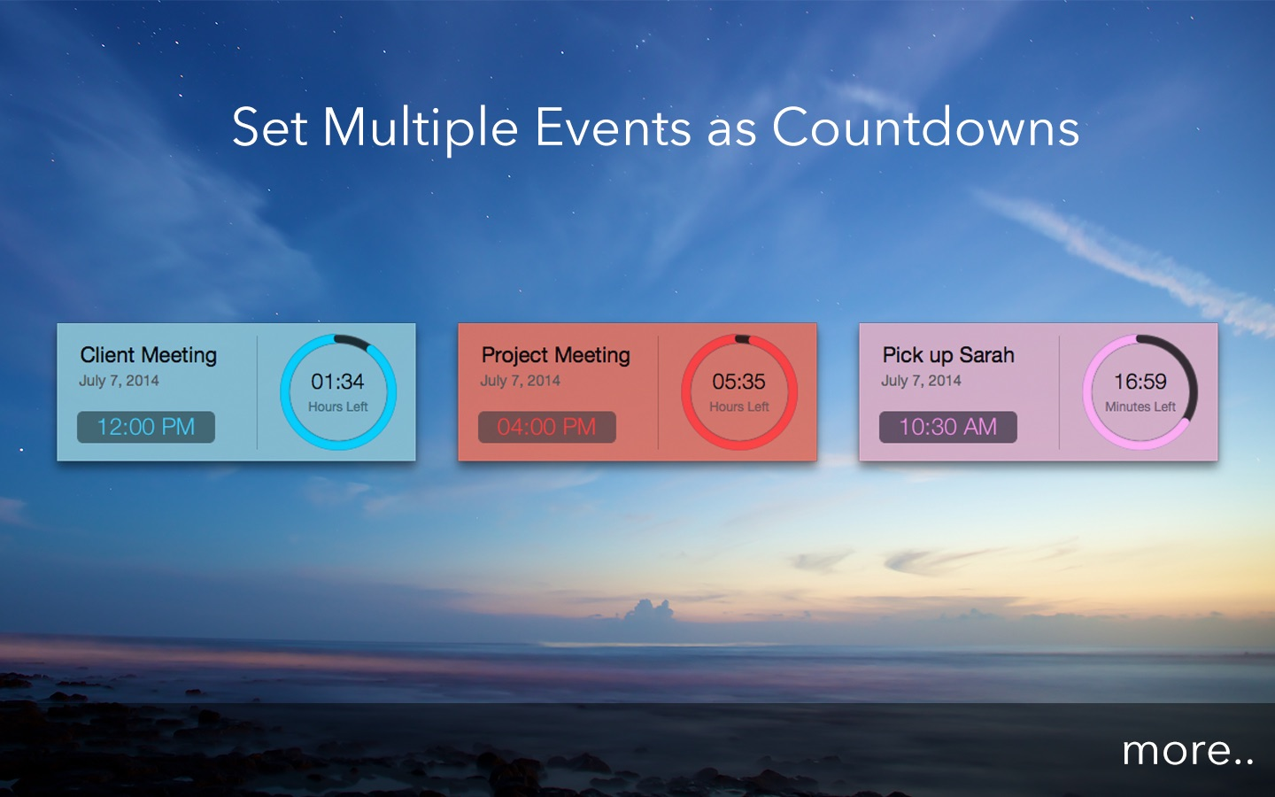 Active Countdown on the Mac App Store