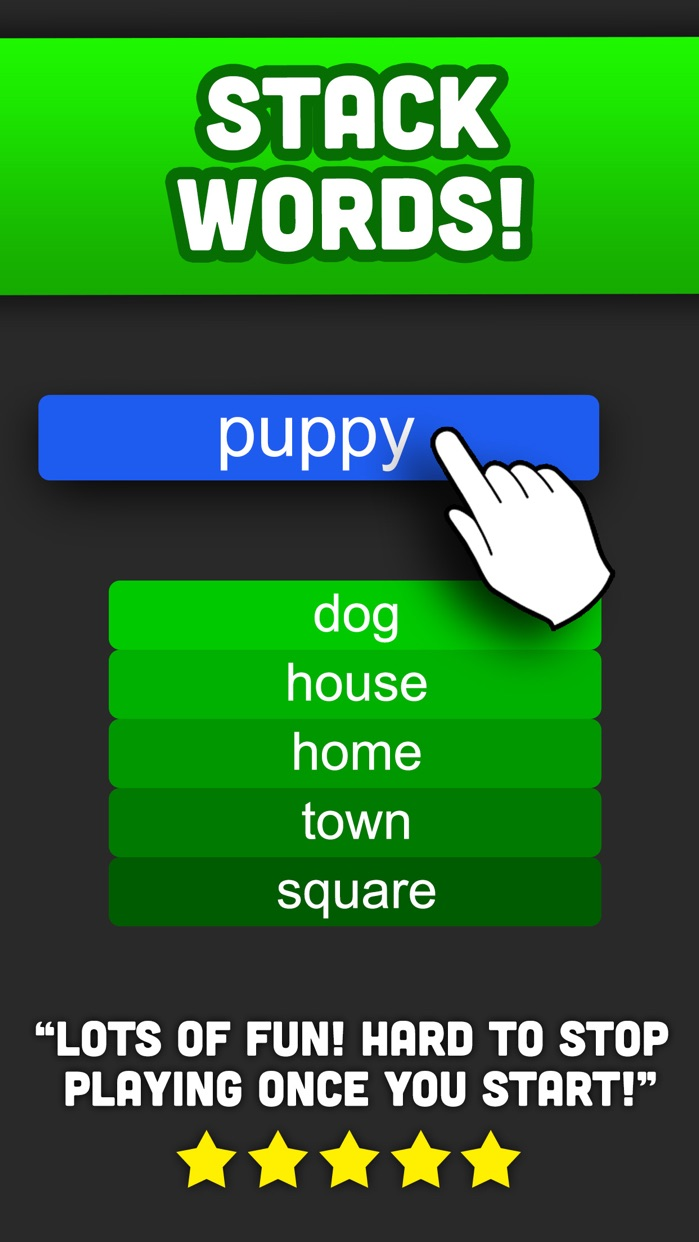 Word Stack : A word association brain game Screenshot