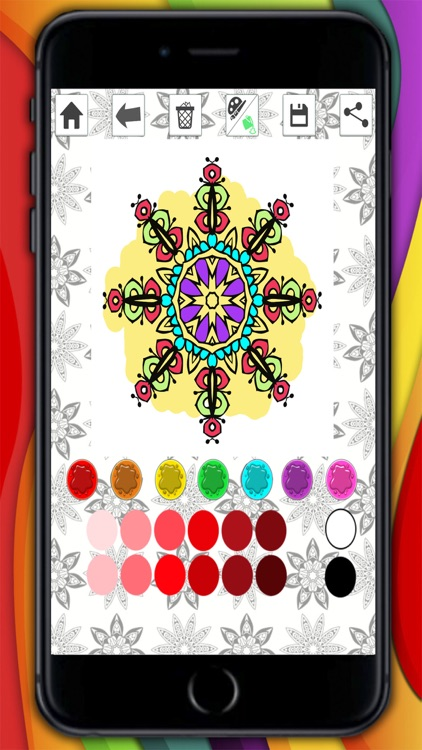 Mandalas coloring pages for adults - Premium screenshot-3