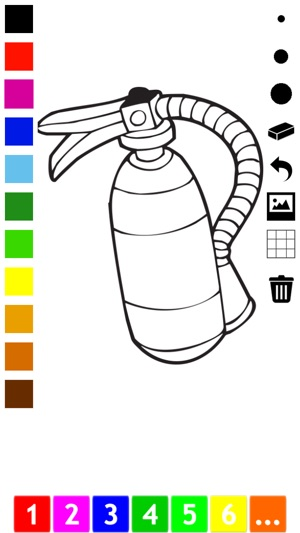Firefighter Coloring Book for Children: Learn to color ...