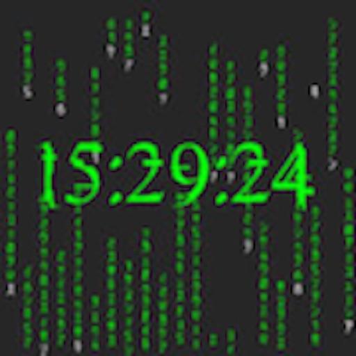 Matrix Rain - Digital Clock Edition