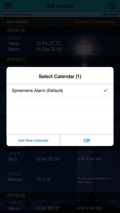 Ephemeris Alarm