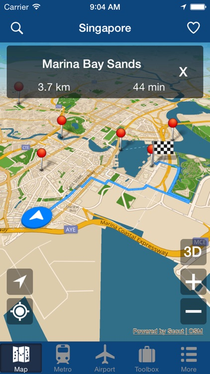 Singapore Offline Map - City Metro Airport screenshot-4