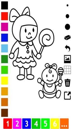 A family coloring book for children learn to draw and color grand parents and kids on the app store