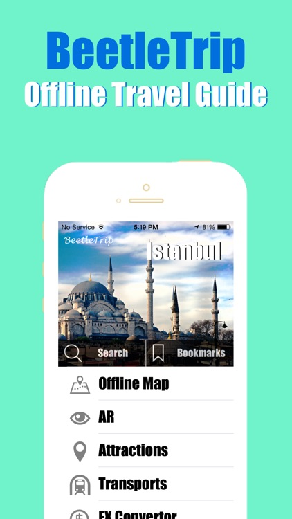 Istanbul travel guide and offline city map, Beetletrip