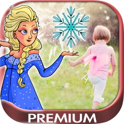 Your picture with frozen ice princesses Premium