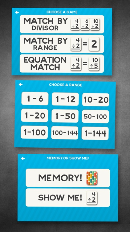 Division Flashcard Match Games for Kids in 2nd, 3rd and 4th Grade Learning Flash Cards Free