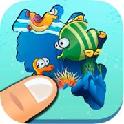 探索海洋 - 休闲游戏的男孩和女孩的学习海洋动物