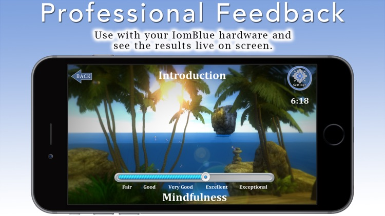 """Mindfulness Meditation with Tara Brach, Phd. Join the Mindfulness Revolution! Use your IomBlue and new """"Mindfulness Meter"""" to master Mindfulness quickly and effectively. Nine guided meditations + bonus. Your IomBlue will track and show your progress. screenshot-3"""