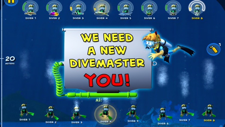 DiveMaster - Guide scuba divers in the best underwater deep sea diving adventure game, collect and share photos about ocean animals screenshot-4