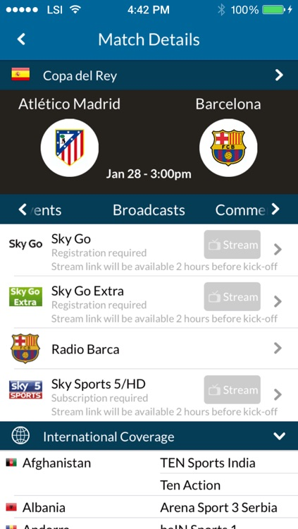 Live Football TV - Official Uk Broadcast Schedules & Scores