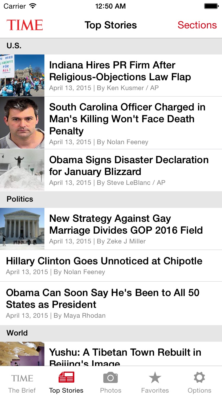 TIME Mobile Screenshot