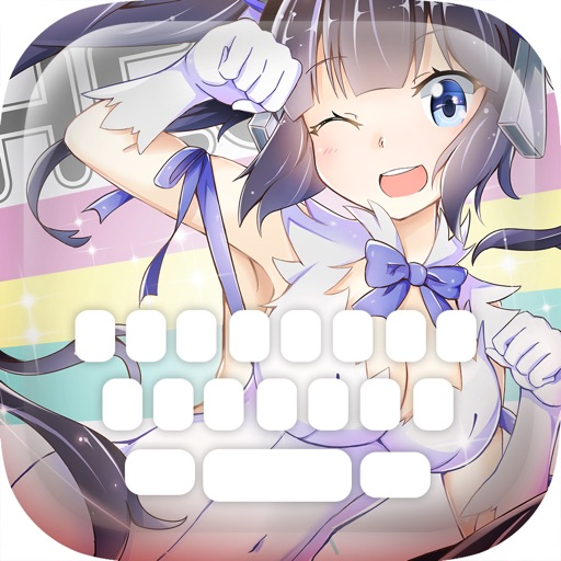 "Custom Keyboard Cartoon Anime Manga : Color & Wallpaper Themes ""Is It Wrong to Try to Pick Up Girls in a Dungeon"" style"
