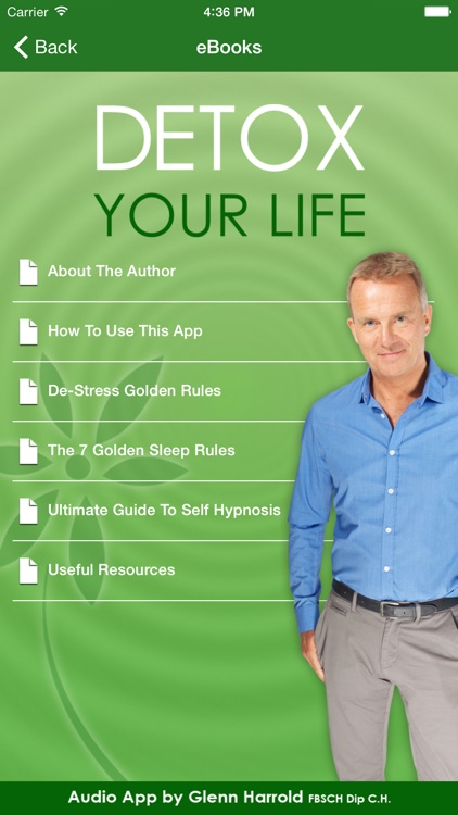 Detox Your Life by Glenn Harrold: A Self-Hypnosis Affirmation Meditation screenshot-3