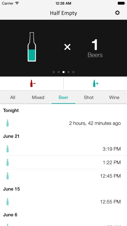 Half Empty - Drink Counter and Tracker