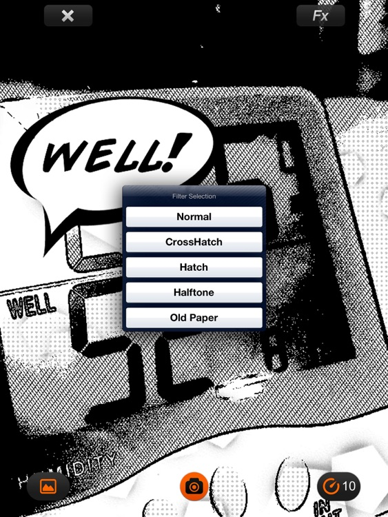 Comic's Camera for iPad free screenshot-3