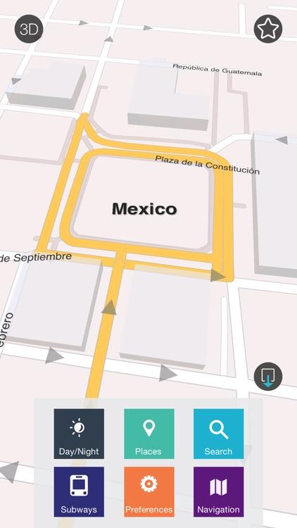 Mexico - Offline Map & City Guide (w/ metro!)