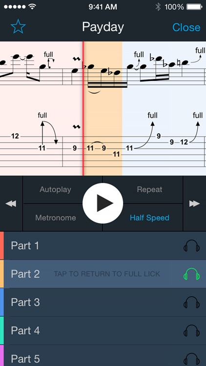Guitar Lick Master - 50+ Licks, Ultimate Trainer with Smart Tabs