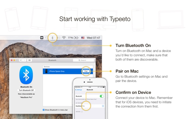 ‎Typeeto: remote BT keyboard Screenshot