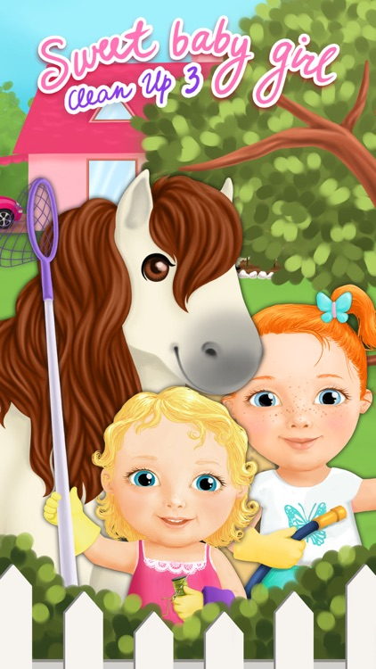 Sweet Baby Girl Cleanup 3 House Chores, Car Wash and Pony Care - Kids Game screenshot-4