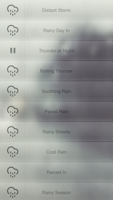 Real Rain Relaxing Sounds for Concentration and Focus screenshot one