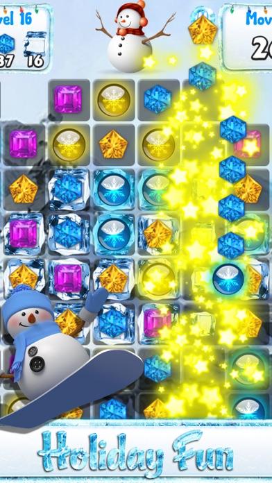 この休日のカウントダウンの一致雪や凍結した宝石 - 雪だるまのゲームとクリスマスパズルのおすすめ画像2