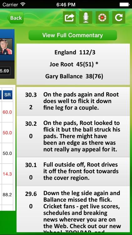 Cricket live score App screenshot-4