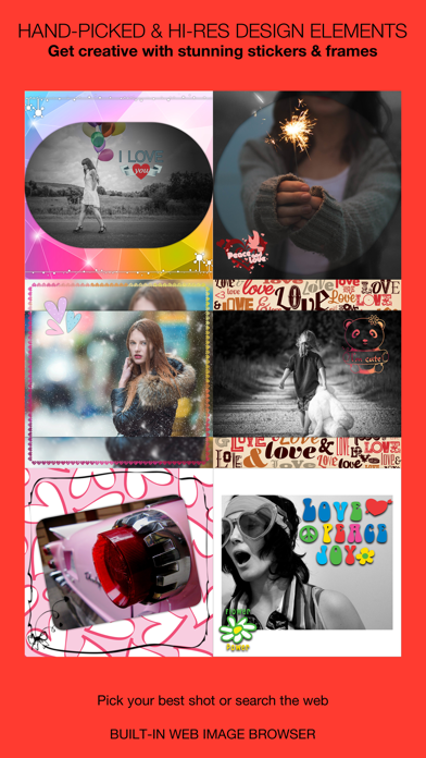 Insta Love Pics – Well designed frames & stickers for