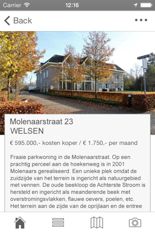 Screenshot of Van Engelen de Wilde Makelaars