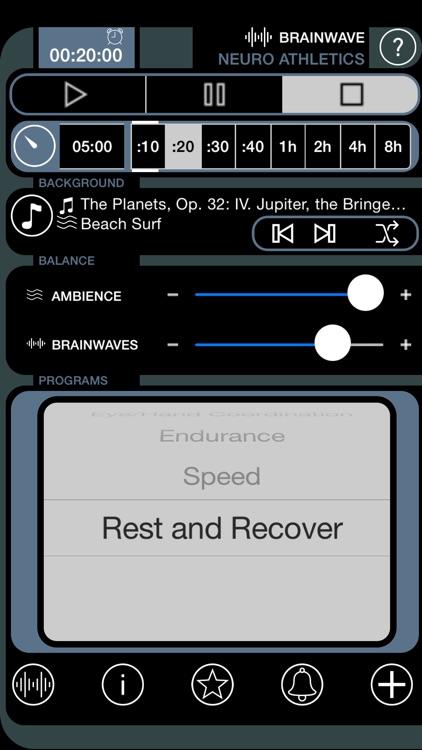 Brain Wave Neuro Athletic Trainer - 7 Advanced Binaural Brainwave Entrainment Fitness Programs screenshot-3