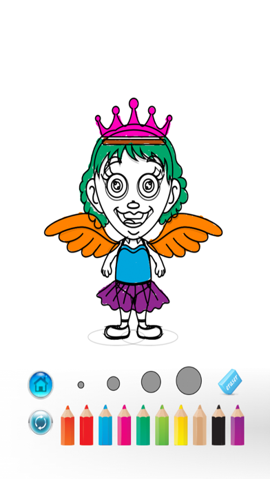 Princess Coloring Book - bed time stories screenshot four