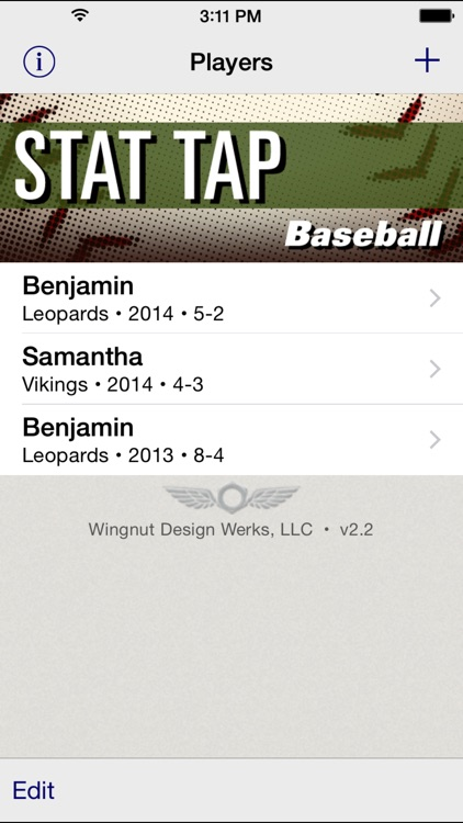 Stat Tap Baseball screenshot-0