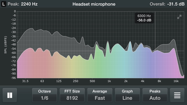 Spectrum Analyzer - Real Time Sound Frequency Analyzer screenshot-0