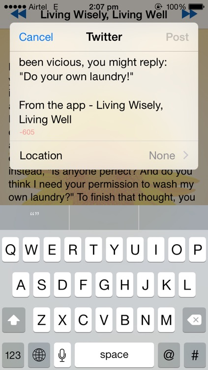 Living wisely, Living Well screenshot-1