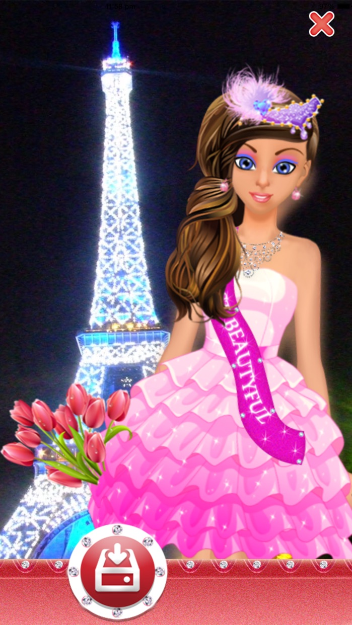 Dress Up Games for Girls & Kids Free-Fun Beauty Salon with fashion,spa,makeover,make up Screenshot