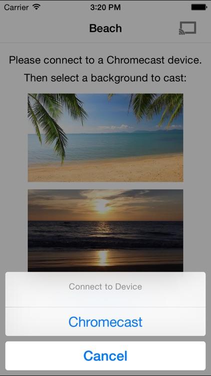 Beaches on TV for Chromecast