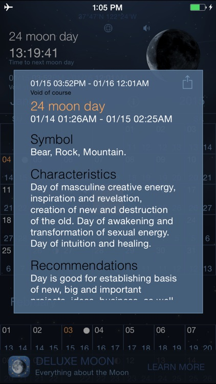 Moon Days - Lunar Calendar and Void of Course Times