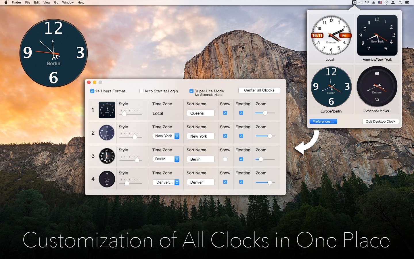 ‎Desktop Clock on the Mac App Store