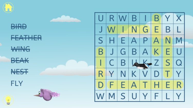 Kids Word Search - Word Find Puzzle for Kindergarten, First, and Second Grade for English Learning screenshot-3