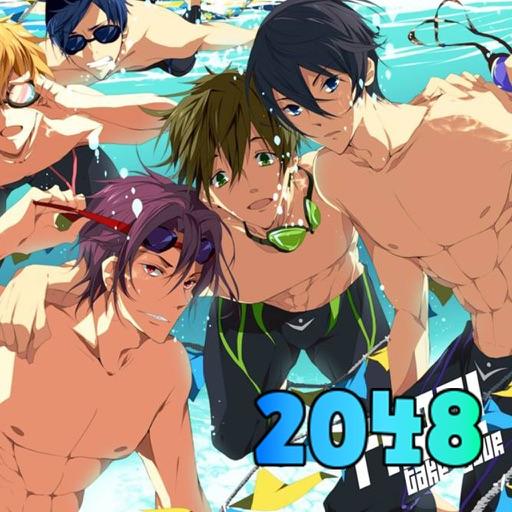 2048 Puzzle Free! - Iwatobi Swim Club Edition:The Logic games 2014