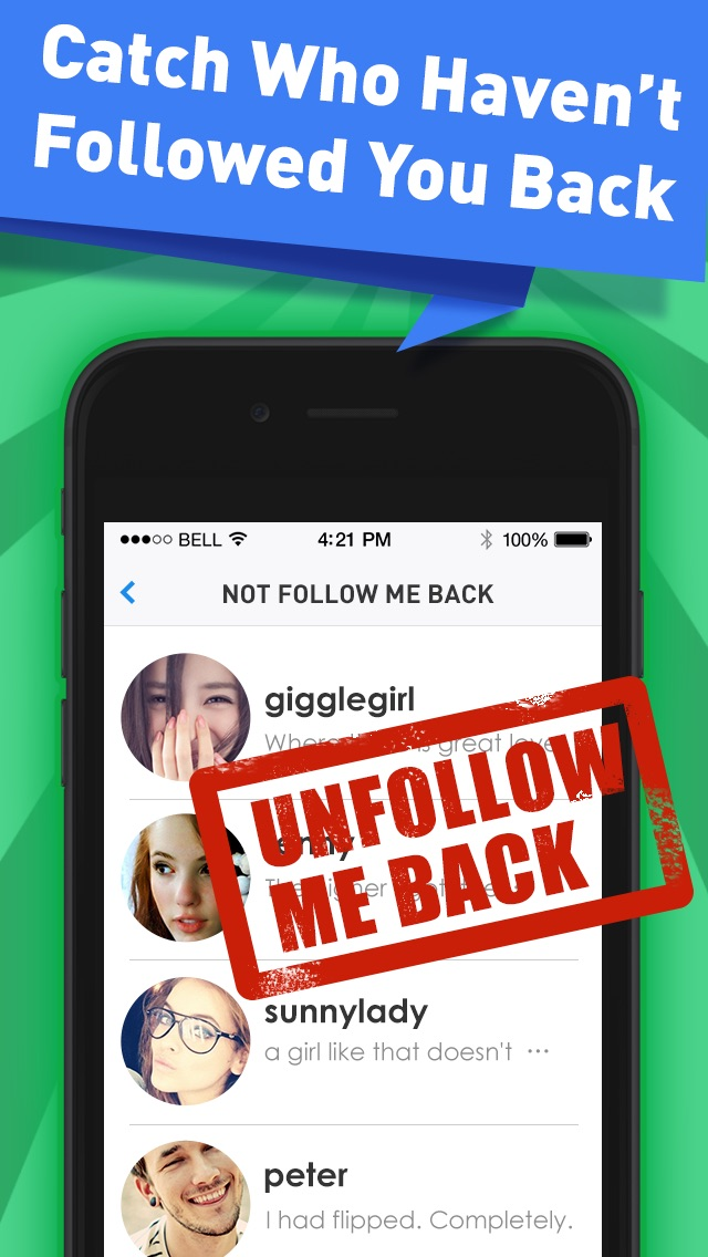 Followers Powers for Instagram - free follow and unfollow tracker app app image
