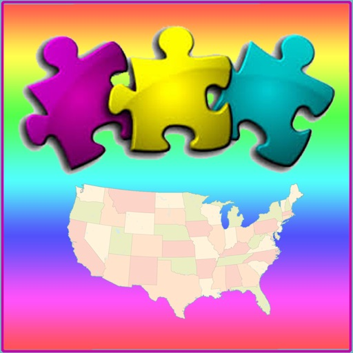 USA Map Puzzle - Map the States